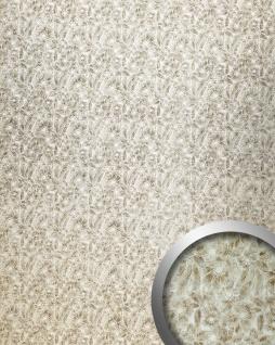 Wandpaneel Blumen Floral Dekor Wandplatte WallFace 17036 DECO FLEUR Wandverkleidung selbstklebend silber braun 2, 60 qm
