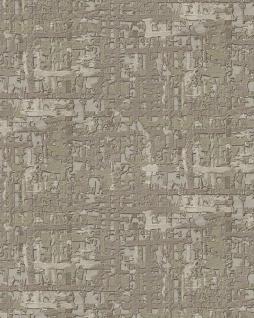 Textiloptik Tapete Profhome DE120095-DI heißgeprägte Vliestapete geprägt mit abstraktem Muster schimmernd oliv beige-grau 5, 33 m2