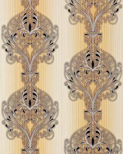 3D Barock Tapete EDEM 096-21 Tapete Damask prunkvolle Ornament-Designs braun orange beige schwarz silber | 5, 33 qm