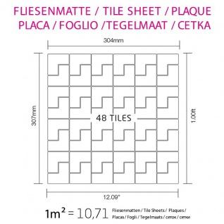 Mosaik Fliese massiv Metall Edelstahl gebürstet in grau 1, 6mm stark ALLOY Kink-S-S-B Designed by Karim Rashid 0, 93 m2 - Vorschau 5