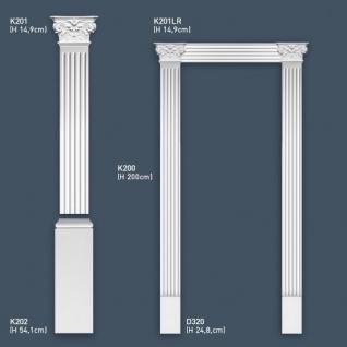 Pilaster Stuck Orac Dekor K202 LUXXUS Sockel Stuck Dekor Element aus leichtem stabilem Hartschaum Material weiß | 54 cm - Vorschau 3