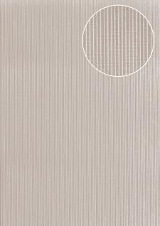 Edle Streifen Tapete Atlas COL-558-5 Vliestapete strukturiert mit Struktur schimmernd grau licht-grau silber 5, 33 m2