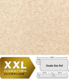 Struktur Tapete EDEM 9086-22 heißgeprägte Vliestapete geprägt unifarben schimmernd creme 10, 65 m2