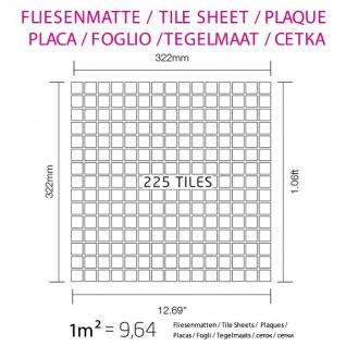 Mosaik Fliese massiv Metall Edelstahl matt in grau 1, 6mm stark ALLOY Mosaic-S-S-MA 1, 04 m2 - Vorschau 4