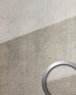 Wandpaneel Glas-Optik WallFace 16979 LEGUAN Luxus Dekor Wandverkleidung abriebfest selbstklebend silber grau   2, 60 qm