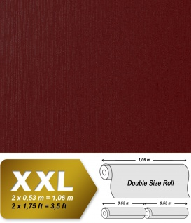 Geprägte Tapete Vliestapete EDEM 940-33 XXL Perlmuttglanz hochwertig 3D geprägte Struktur Weinrot bordeaux rot 10, 65 qm