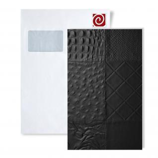 1 MusterstÜck S-15031-sa Wallface Collage Nero Leather Collection   Wandpaneel Muster In Ca. Din A4 Größe - Vorschau 1