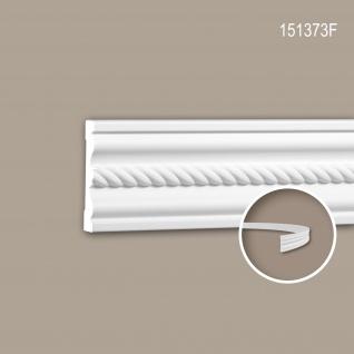 Wand- und Friesleiste PROFHOME 151373F Stuckleiste Flexible Leiste Zierleiste Neo-Empire-Stil weiß 2 m