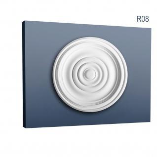 Rosette Stuck Orac Decor R08 Deckenrosette Stuckrosette Gesims klassisch schön ring Dekor weiß | 38 cm Durchmesser - Vorschau 1