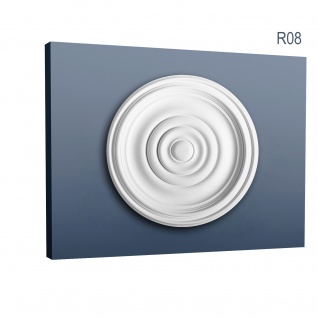 Rosette Stuck Orac Decor R08 Deckenrosette Stuckrosette Gesims klassisch schön ring Dekor weiß | 38 cm Durchmesser