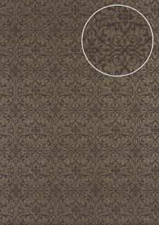 Barock Tapete Atlas PRI-498-1 Vliestapete glatt mit Ornamenten glänzend bronze perl-beige braun-grau beige-grau 5, 33 m2