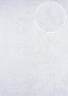 Uni Tapete ATLAS HER-5141-2 Vliestapete strukturiert mit Struktur schimmernd weiß perl-weiß 7, 035 m2