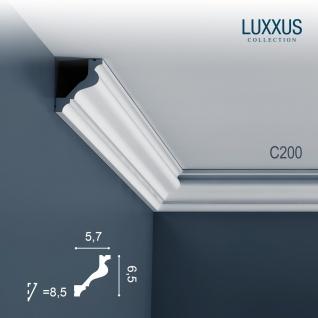Stuck Zierleiste Orac Decor C200 LUXXUS Eckleiste Profilleiste leiste dekor Decken Wand Leiste | 2 Meter