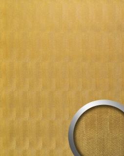 Wandpaneel Luxus Reptilienhaut-Dekor WallFace 17016 PEARL RAY Design Wandplatte Metallglanz selbstklebend gold | 2, 60 qm