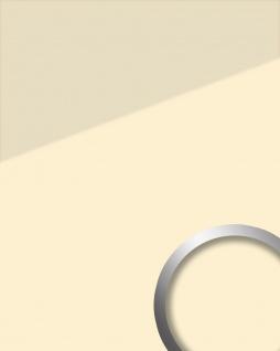 Wandpaneel Glas-Optik WallFace 17940 UNI MAGNOLIA Wandverkleidung selbstklebend beige creme 2, 60 qm
