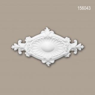 Rosette PROFHOME 156043 Zierelement Deckenelement Neo-Empire-Stil weiß 58, 5 x 31, 5 cm