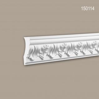 Eckleiste PROFHOME 150114 Zierleiste Stuckleiste Zeitloses Klassisches Design weiß 2 m