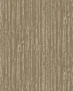 Streifen Tapete Profhome DE120086-DI heißgeprägte Vliestapete geprägt mit Streifen glänzend braun gold 5, 33 m2