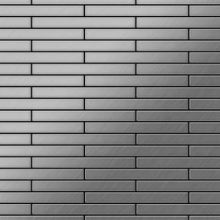 Mosaik Fliese massiv Metall Edelstahl marine gebürstet in grau 1, 6mm stark ALLOY Deedee-S-S-MB 0, 63 m2