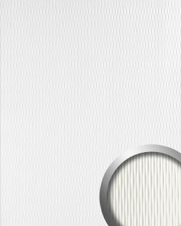 Wandpaneel 3D Wellen-Struktur Design WallFace 17043 MOTION ONE Kunststoff Wandverkleidung selbstklebend perlweiß 2, 60 qm