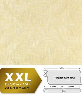 Grafik Vliestapete EDEM 913n-21 XXL abstraktes Textilgewebe Flechtwerk Designer Tapete creme champagner 10, 65 qm