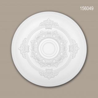 Rosette PROFHOME 156049 Zierelement Deckenelement Neo-Empire-Stil weiß Ø 34, 6 cm