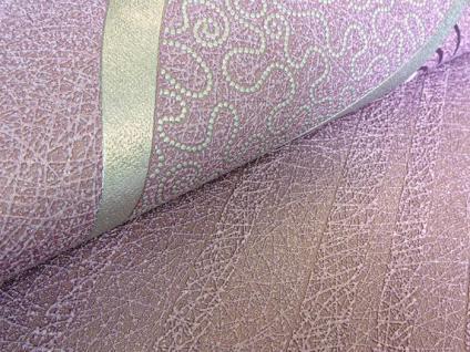 Streifen Tapete EDEM 1015-14 Fashion Design Uni-Tapete dezent gestreifte Struktur-Muster hochwaschbare Oberfläche violett - Vorschau 4