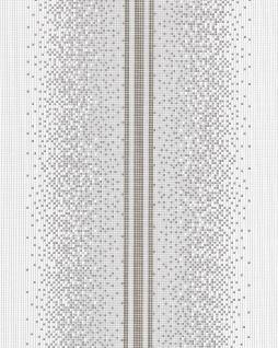 Streifen Tapete EDEM 1023-16 Tapete Designer Mosaik-Steinchen Pixel Look dezenter Glitzereffekt abwaschbar grau weiß