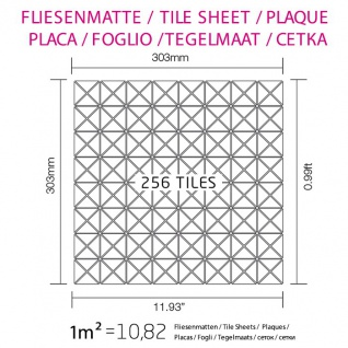 Mosaik Fliese massiv Metall Titan gebürstet in dunkelgrau 1, 6mm stark ALLOY Deco-Ti-SB 0, 92 m2 - Vorschau 4