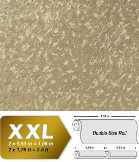 Uni Tapete EDEM 9011-32 Vliestapete geprägt in Spachteloptik glänzend gold 10, 65 m2