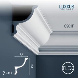 Stuck Eckleiste Orac Decor C901F LUXXUS flexible für indirekte Beleuchtung Profilleiste Gesims | 2 Meter