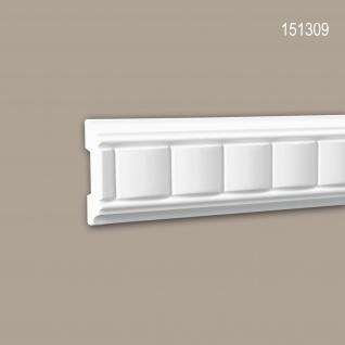 Wand- und Friesleiste PROFHOME 151309 Stuckleiste Zierleiste Wandleiste Zeitloses Klassisches Design weiß 2 m