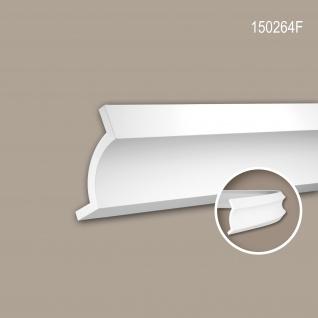 Eckleiste PROFHOME 150264F Stuckleiste Flexible Leiste Zierleiste Modernes Design weiß 2 m