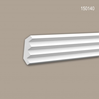 Eckleiste PROFHOME 150140 Zierleiste Stuckleiste Modernes Design weiß 2 m