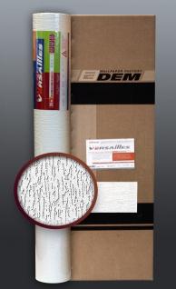 EDEM 80362BR70 Vliestapete überstreichbar Reibeputz Muster dekorative Putzstruktur-Optik weiß 106 qm 1 Kart. 4 Rollen