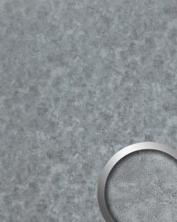 Wandpaneel Metalloptik WallFace 20189 OXIDIZED Platin Wandverkleidung im Rost-Vintage Look selbstklebend abriebfest platin grau 2, 6 m2