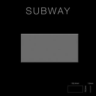Mosaik Fliese massiv Metall Edelstahl hochglänzend in grau 1, 6mm stark ALLOY Subway-S-S-M 0, 58 m2 - Vorschau 2