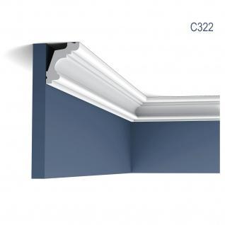 Stuckleiste Dekor Profil Orac Decor C322 LUXXUS Eckleiste Zierleiste Decken Wand Stuck Gesims Dekorleiste 2 Meter