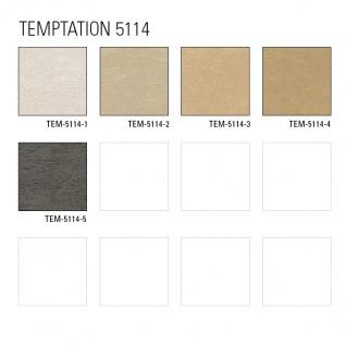 Uni Tapete Atlas TEM-5114-3 Vliestapete strukturiert im Shabby Chic Stil schimmernd beige cappuccino grau-beige 7, 035 m2 - Vorschau 4