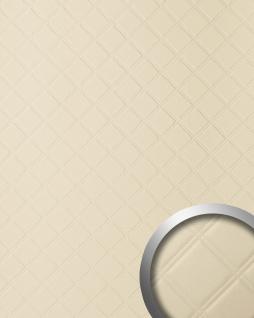 Wandpaneel Leder Design Karo Muster WallFace 13867 ROMBO Wandplatte Wandverkleidung selbstklebend creme 2, 60 qm