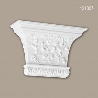 Pilaster Kapitell PROFHOME 121007 Zierelement Korinthischer Stil weiß