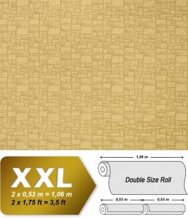 Stein Vliestapete EDEM 922-29 Präge dekor mauer-stein-optik natur-grün hell-olive beige 10, 65 qm