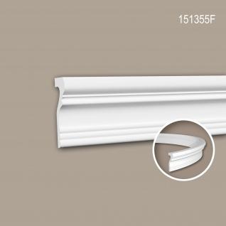 Wand- und Friesleiste PROFHOME 151355F Stuckleiste Flexible Leiste Zierleiste Neo-Klassizismus-Stil weiß 2 m