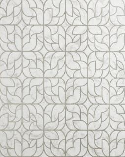 Grafik Tapete EDEM 85074BR35 Tapete leicht strukturiert mit Ornamenten glänzend creme perl-beige elfenbein silber 5, 33 m2