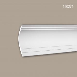 Eckleiste PROFHOME 150271 Zierleiste Stuckleiste Modernes Design weiß 2 m