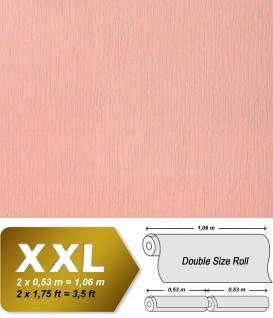 Uni Vliestapete EDEM 901-15 Tapete in XXL geprägte Stuktur Stoff Textiloptik Koralle rosa 10, 65 qm
