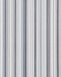 Streifen Tapete EDEM 097-26 Designer Tapete prunkvolle modern und edel blau hellblau grau weiß silber schwarz