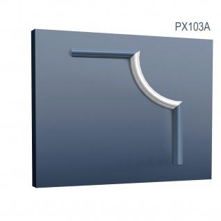 Profil für Wand Friesleiste Orac Decor PX103A AXXENT Eckelement Eckstück Dekorelement Rahmen Zierleiste PX103 | 19 cm