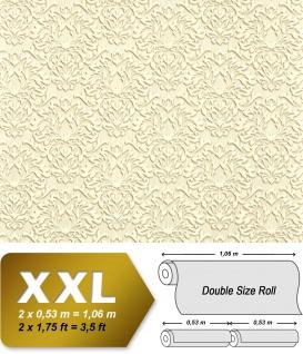 Barock Tapete XXL Vliestapete EDEM 935-21 Opulentes florales Barockmuster Luxus Barocktapete beige hellbraun 10, 65 m2