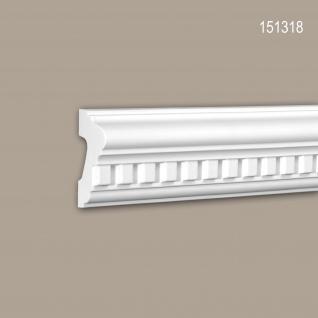 Wand- und Friesleiste PROFHOME 151318 Stuckleiste Zierleiste Wandleiste Neo-Klassizismus-Stil weiß 2 m